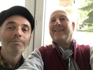 Frank Tentler (links) mit Host Zepp Oberpichler (rechts) im Studio des Ruhrpodcast.
